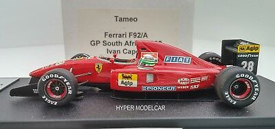 TAMEO KIT 1/43 F1 Ferrari F92A #28 Gp South Africa 1992 I. Capelli - Whit Helmet