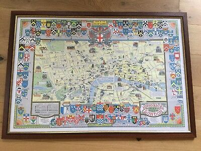 Heraldic Arms of the City of London Print Framed