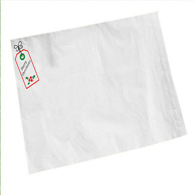 "10 White Merry Christmas 12"" x 16"" Mailing Postage Mail Postal Bags"