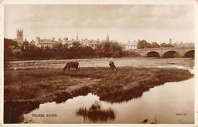 uk37478 thurso river scotland  real photo uk lot 12 uk