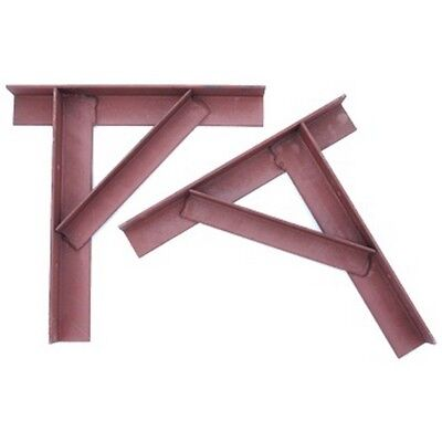 Steel Gallows Chimney Support Brackets-Pair Painted Red Oxide 60 X 60 X 6 ANGLE