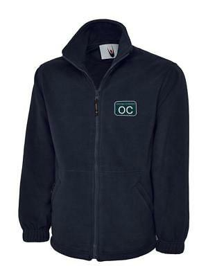 Fleece Jacket embroidered with BR British Rail Depot shed sticker PERSONALIZED