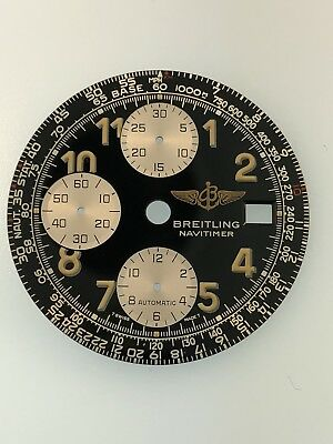 Breitling Old Navitimer Black Dial & White Subdials Ref: A13322