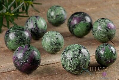 RUBY ZOISITE Sphere - One Small Raw Ruby Stone Sphere, Crystal Sphere E1138