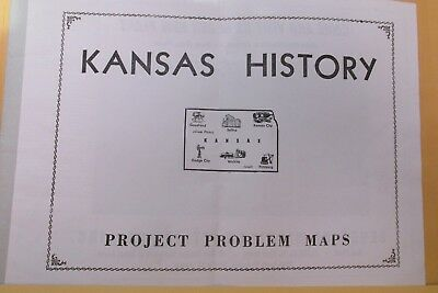 1957 Kansas History Project Map By 7Up