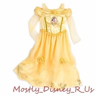 5ddd58199 NEW Disney Store Exclusive Beauty and the Beast Belle Pajamas Nightgown PJ  9/10