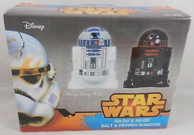 Neu Disney Star Wars R2-D2 Droid & Darth Vader Salz & Pfeffer Streuer Set