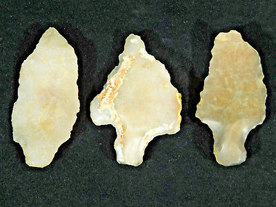 Three Exceptional! Aterian Artifacts 55,000 to 12,000 Years Old Algeria 59.9gr