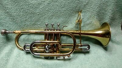 Vtg Holton Collegiate Special Deluxe Trumpet w/ 76 Mouth Piece & Case Elkhorn Wi