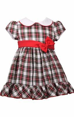 Bonnie Jean Christmas Outfits.Bonnie Jean New Girls Dress Size 2t Red Plaid Boutique Party