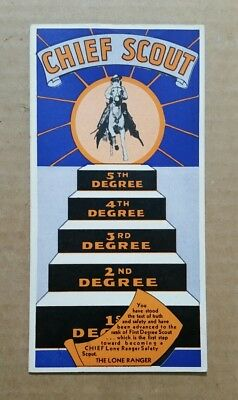 1st.Degree Lone Ranger Safety Scout,Membership Card,1930's-40's
