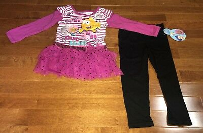 Bubble Guppies Toddler Girl Molly Mr. Grouper Shirt & Leggings Outfit Set New 2T
