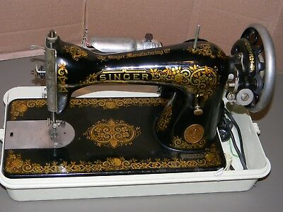 ANTIQUE 40 TO 40 SINGER SEWING MACHINE VERY CLEAN MOTORIZED Extraordinary 1923 Singer Sewing Machine