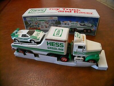 1991 Hess Gasoline Truck with Racecar