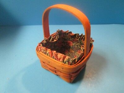 Small Cute Longaberger Basket with Floral Insert