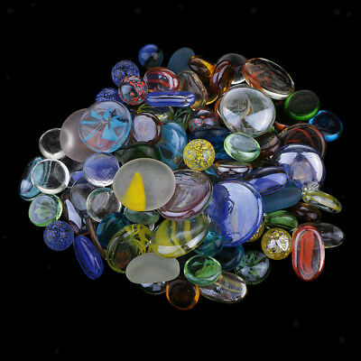 Gemstones Shaped Decorative Glass Stone Colored Stones for Fish Tank Decor