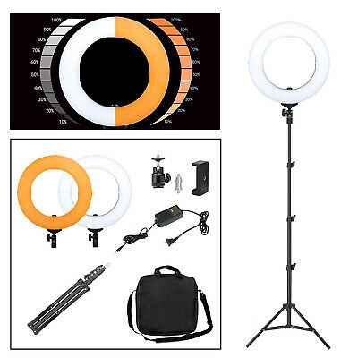"18"" Photography LED SMD Ring Light Dimmable 5500K Lighting Photo Video Stand Kit"