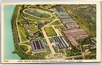 Aerial View Canadian National Exhibition Grounds Toronto Postcard I08