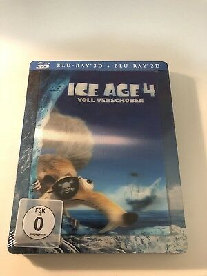 Ice Age 4 3D+2D Blu-Ray Media Markt Lenticular Exclusive Steelbook New & Sealed
