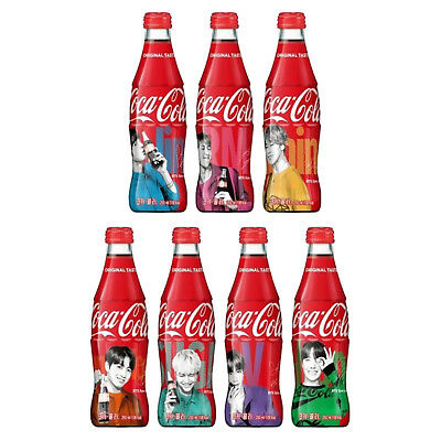 BTS Coca Cola Coke Contour Bottle Limited Special Edition 250ml  Bangtan Boys