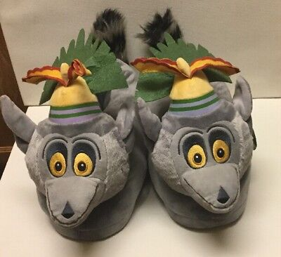 3b4c16d7a OFFICIAL DREAMWORKS MADAGASCAR Julien Slippers by Happy Feet Size XL ...