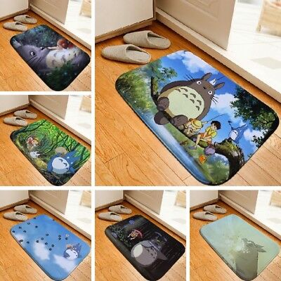 Bath Mat Cartoon Totoro Printed Rug Toilet Carpet Flannel Bathroom Mat Floor Mat