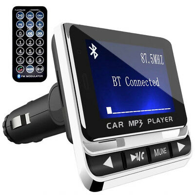 Car Bluetooth FM Transmitter with USB Charger and Remote Control Hands-Free Call
