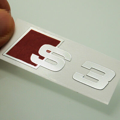 2 Pcs S Line S3 Alloy  Interior Surface Styling Sticker Emblems For A3 S3 S172