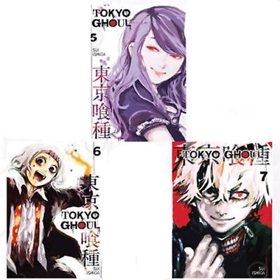 Tokyo Ghoul Collection Vol(5,6,7) 3 Books set By Sui Ishida Paperback NEW