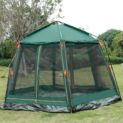 Tahoe Gear Manitoba 8-Person Family Outdoor Camping Tent w/ Rainfly, Green Big