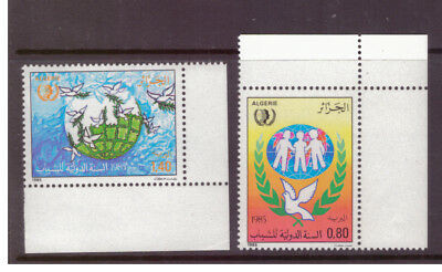 Algeria MNH 1985 Dove ,Birds,International Youth Year  set mint stamps