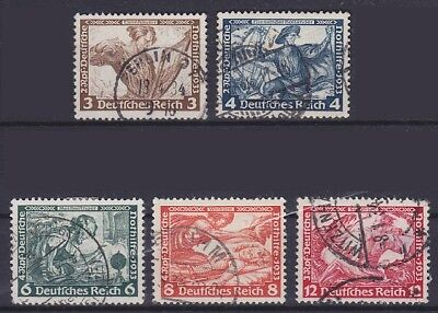 DR Mi Nr. 499, 500, 502, 503, 504, gest. Berlin etc., Nothilfe Wagner 1933, used