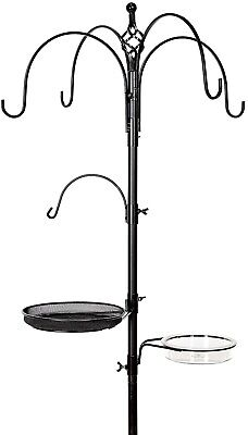 Ornate Metal Garden Wild Bird Feeding Station for Hanging 5 Bird Feeders