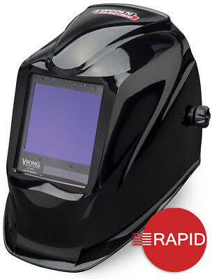 Lincoln Viking 3350 4C Black Auto Darkening Welding Helmet, Shade 6 - 13
