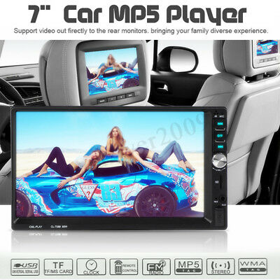7'' HD Double 2DIN Touch Screen Car Radio Stereo FM/MP5 Player Bluetooth 1080P