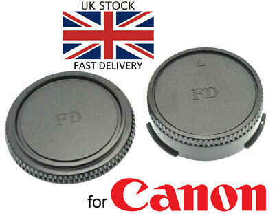 NEW Body & Rear Lens Cap For Canon FD Mount *UK Seller* SLR Film Camera / Lens