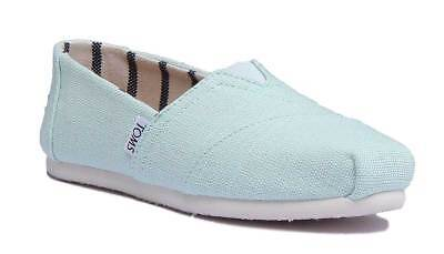 Toms Classic Slip On Womens Aquablue Canvas Trainer Size UK 3 - 8