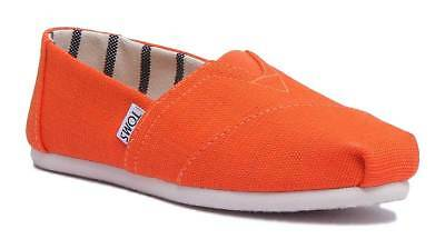 Toms Classic Slip On Womens Orange Canvas Trainer Size UK 3 - 8