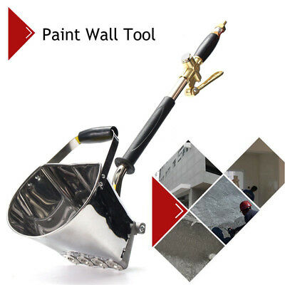 Alloy Air Stucco Cement Mortar Plaster Hopper Sprayer Gun Wall Hand Tool 4 Jet