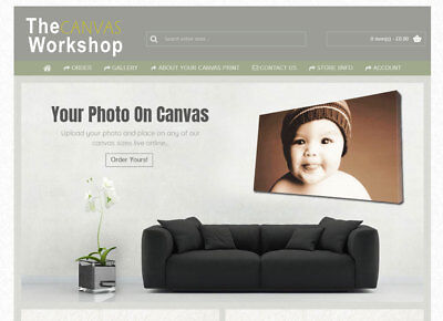 Canvas Printing Website With Live image upload and placement - Built to for u