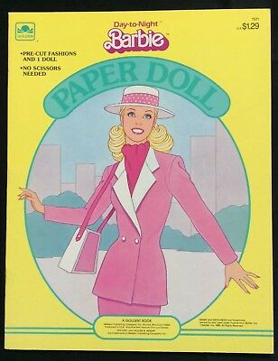 Day To Night Barbie Puppe Buch, Whitman 1985, Uncut