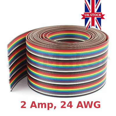 Ribbon Cable Wire - 2A - 24AWG - 3D Printer, Stepper Motor, End Stop Switch
