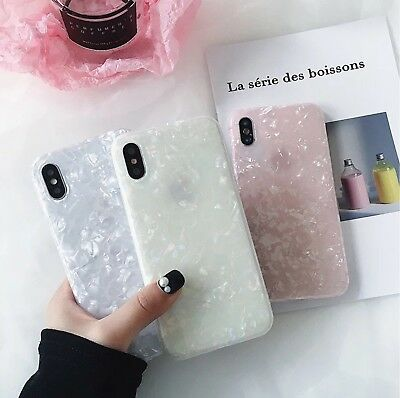 For Samsung Galaxy S8 S9 Glossy Marble Shockproof Silicone Soft Phone Case Cover