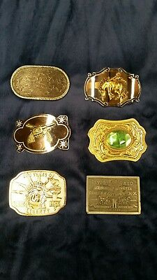 Lot Of 6 Vintage Western Belt Buckles