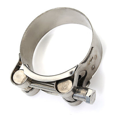 """Universal 2"""" 51mm -2.5"""" Stainless Steel Exhaust Muffler Clamp Kit for Motorcycle"""