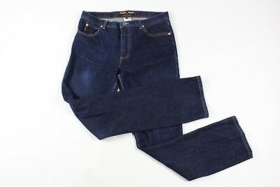 Vintage 90s Guess Mens 31x32 Low Rider Slim Fit Spell Out Denim Jeans Pants Blue