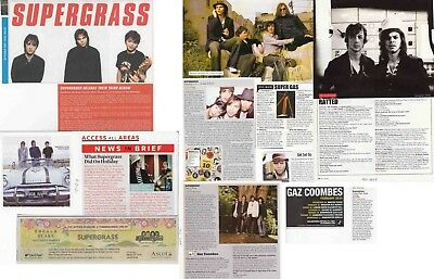 SUPERGRASS : CUTTINGS COLLECTION -interviews adverts-
