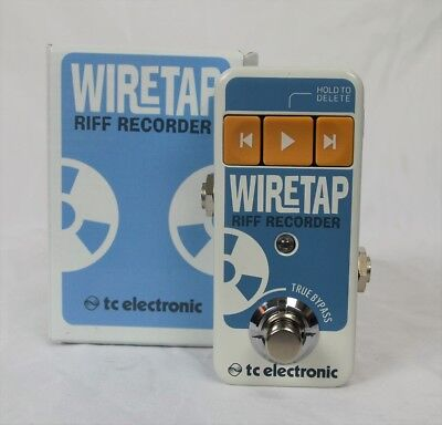 TC Electronic WireTap Riff Recorder Guitar Effects Pedal Wire Tap