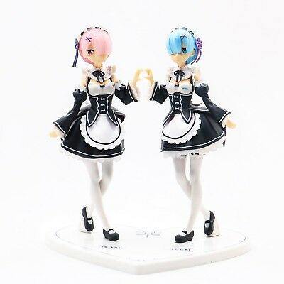 Life in Different World From Zero Ram / Rem Set Figure 18cm Statue Toy No Box