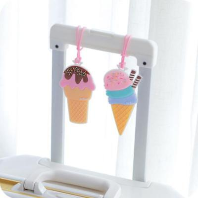 Travel Accessories Luggage Ice Cream ID Address Holder Baggage Boarding Tags J